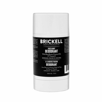 Brickell Men's Products Fresh Mint Deodorant For Men, Natural and Organic, Aluminum, Alcohol, and Baking Soda Free, 2.65 Ounce, Scented
