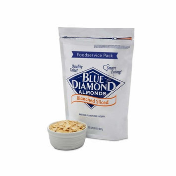 Blue Diamond Almonds Blanched Sliced, Foodservice Pack, 2 Pound [Blanched Sliced]