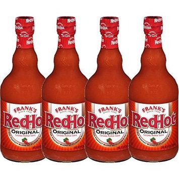 Franks Red Hot Sauce, 23 FL OZ (Pack of 4)