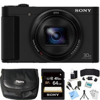 Sony Cyber-shot HX80 Compact Digital Camera (Black) 64GB Memory Card Bundle