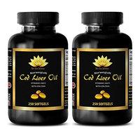 Mental wellness - NORWEGIAN COD LIVER OIL - Norwegian cod liver oil - 2 Bottles 500 Softgels