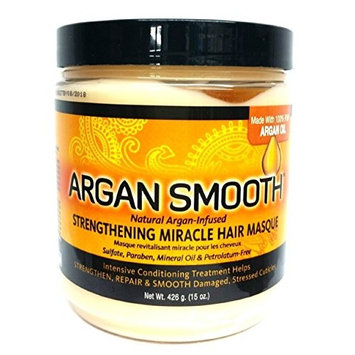 Argan Oil Smooth Strengthening Miracle Hair Masque, 15 Ounce (Pack of 12)