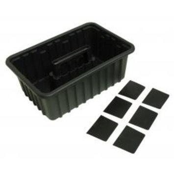 HOMAK MFG BLACK PLASTIC TOTE w/6 DIVIDERS