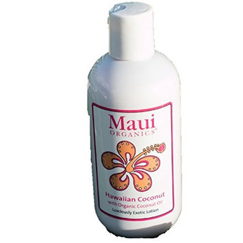 Maui Organics Tropical Lotion, Hawaiian Organic Coconut Fragrance, 8.5 Ounce