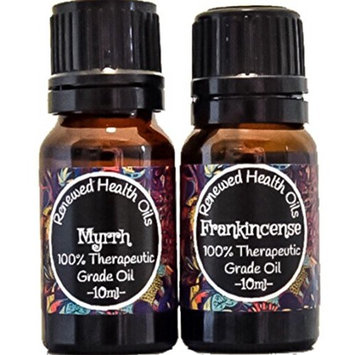 Frankincense and Myrrh Essential Oil Combo Pack Set 100% Pure Therapeutic Grade 2/10ml
