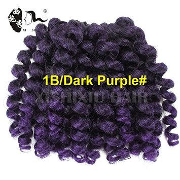 8'' 75g Jumpy Wand Curl Twist Crochet Braid Jamaican Bounce African Synthetic Braiding Hair 2Pcs/Lot