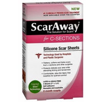 ScarAway C-Sections Silicone Scar Sheets - 4 count (7