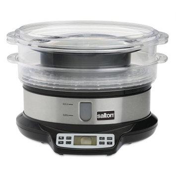 Salton Programmable Steamer & Rice Cooker, Black