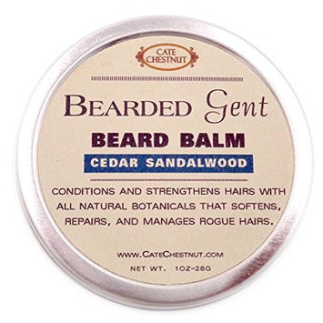 Bearded Gent | Beard Balm Cedar Sandalwood Leave-in All Natural Butters & Oil Beard Conditioner