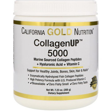 California Gold Nutrition, Collagen UP 5000, Marine Sourced Collagen Peptides + Hyaluronic Acid + Vitamin C, 7.23 oz (205 g) [Package Quantity : 7.23 oz]