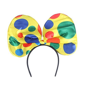 Tinksky Clown Bow Tie Headband Hair Hoop Large Ear Headbands for Cosplay Masquerade Party Favors One Size