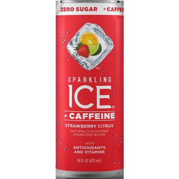 Sparkling Ice® + Caffeine Strawberry Citrus, 16 Fl Oz Can, 12 Count