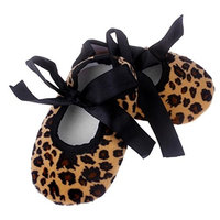 Koly Kids Baby CUTE Bowknot Leopard Printing Newborn Cloth Shoes