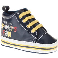 born Boy Sport Fan High Top Soft-Sole Sneakers