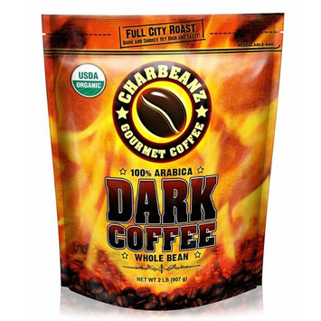 2LB Cafe Don Pablo CharBeanz Dark Coffee - USDA Organic Certified - Whole Bean Arabica Coffee - Full City Roast, 2 Pound