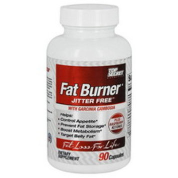 Top Secret Nutrition Jitter Free Fat Burner with Garcinia Cambogia Capsules, 90CT