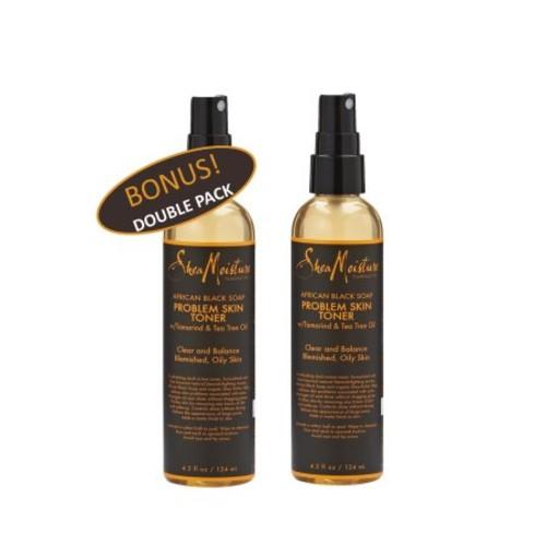 Shea Moisture African Black Soap Problem Skin Toner w/ Tamarind & Tea Tree oil 4.2 oz Value Double Pack qty of 2 Each