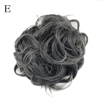 dzt1968 Women Curly Bun gorgeous Hairpiece Scrunchie Wigs Extensions Hairdressing (E)