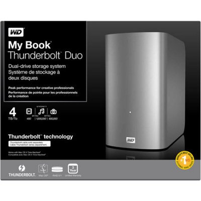 Western Digital WD 4TB My Book Thunderbolt Duo Dual Drive Storage