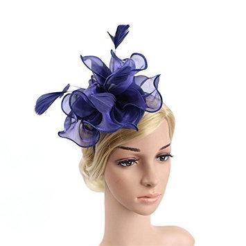 RUIXUE Wedding Fascinator Hat Women Feather Flower Hair Band Church Tea Party Headdress