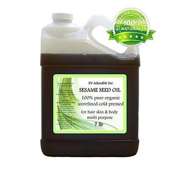 Sesame OIL Unrefined Cold Pressed Organic 128 Oz / 7 Lb / One Gallon