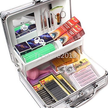 Baisidai False Lashes Individual Extension Eyelash Micro Brushes Glue Tools Kits Case Set