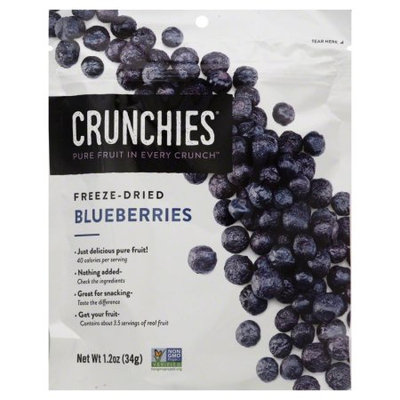 Crunchies Freeze Dried Fruit Freeze Dried Blueberries-1.2 oz Bag