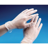 Vinyl Powder Free Clear Examination Gloves latex free and comfortable to wear Med