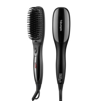 Tresutopia Ionic Hair Straightening Brush with Fast Heated MCH Technology, Anti-Scald and Temperature Lock Function, 265 ¡ãF - 450 ¡ãF, 100-240 V Worldwide Voltage