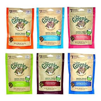 Feline Greenies Dental Cat Treats Variety Pack