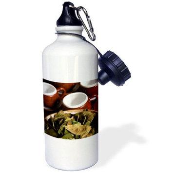 3dRose Peru, Cuzco. Coca leaves and tea cups - SA17 BJA0152 - Jaynes Gallery, Sports Water Bottle, 21oz