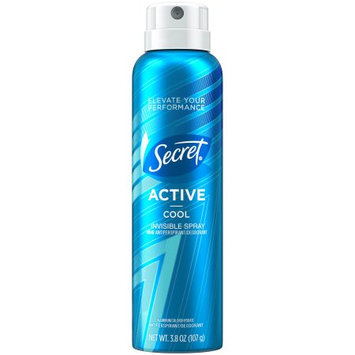 Procter & Gamble Secret Active Cool Invisible Spray Antiperspirant and Deodorant for Women 3.8 oz. Can