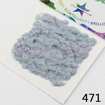 471 Nail Art Modelling Flocking Powder Blue Grey Series