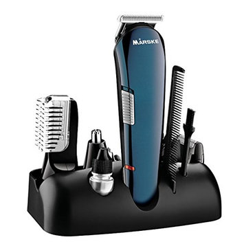 Pretty See Haircut Kit Multi-functional Hair Clippers Rechargeable Electric Shaver for Men, Combined with Hair Comb, Blades, USB Cable and Cleaning Brush, Blue