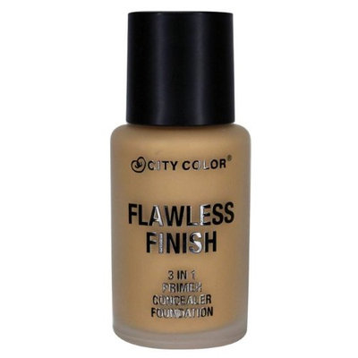 City Color B-0039 F-0017-1 T-0003 Flawless Foundation in Light with Sponge
