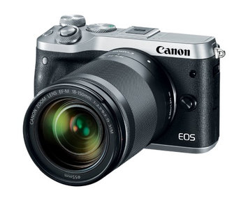 Canon M6 EOS 24.2MP Mirrorless Digital Camera with EF-M 18-150mm IS STM (Silver)