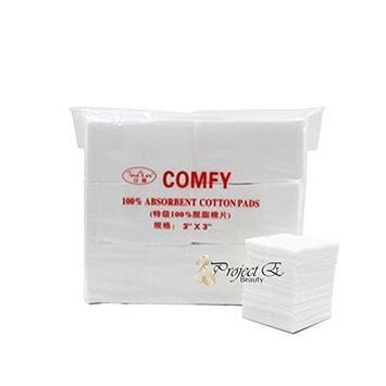 Disposable Cosmetic Cotton Make Up Removal Puff Pads For Skin Care Facial Cleaning - Pack of 550 - White