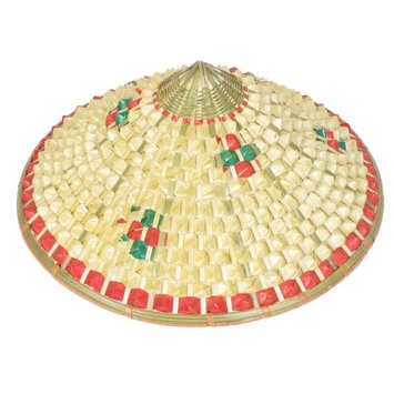 Allegra K Three Colors Plaid Pattern Bamboo Weaving Pineapple Hat