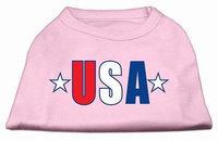 Ahi USA Star Screen Print Shirt Light Pink Med (12)