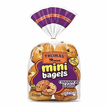 Thomas' Cinnamon Raisin Mini Bagels, 10 ct, 18 oz - 2 Packs
