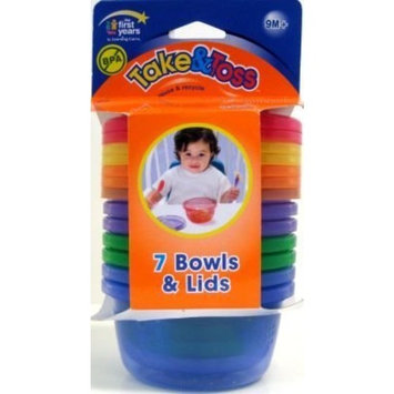 The First Year's Learning Curve Take & Toss Bowls With Lids 8 oz., 6-count (3-Pack)