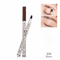 Eyebrow Pencil - Music Flower Eyebrow Pen with Eyebrow Comb,Eyebrow Long Lasting Tint Dye Cream,Waterproof,Smudge-proof (Color : Brown)