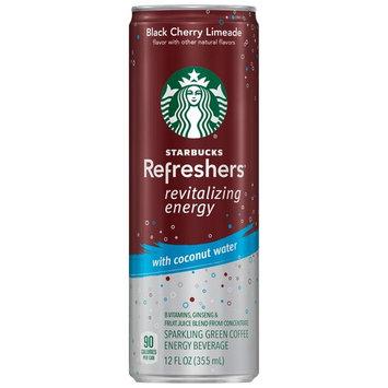 Starbucks Refreshers Energy Coffee Drink, Black Cherry Limeade, 12 Fl Oz