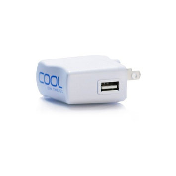 Cool on the Go High Power (7.5V 500mAh) USB Wall Charger / Home - Travel / Charges AA Rechargeable Battery In the Device