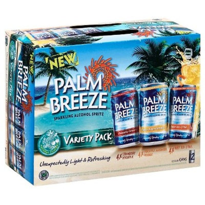 Palm Breeze Sparkling Alcohol Spritz Variety Pack, 12 pack, 12 fl oz