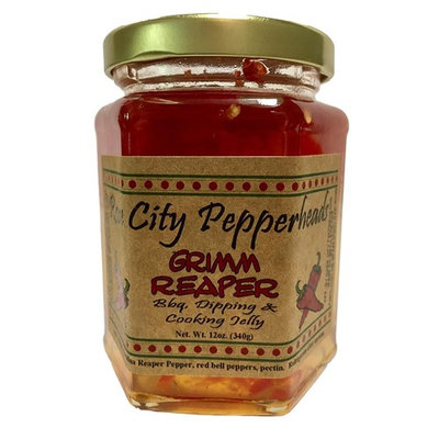 Grimm Reaper 12 Ounces - Rose City Pepperheads Jellies - Birthday, Hostess, Get Well, Christmas Jelly Gift (Grimm Reaper)
