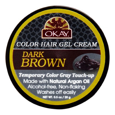 Okay Color Hair Gel, Dark Brown, 0.5 Oz