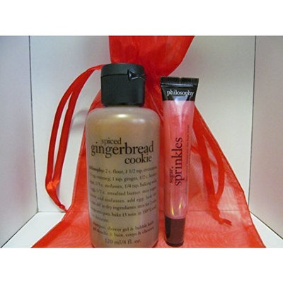 Philosophy Spiced Gingerbread Cookie Shampoo Shower Gel & Sugar Sprinkles Lip Shine Duo with Gift Bag by Philosophy