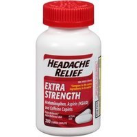 Headache Relief, 200 Coated Caplets (Compare to Excedrin)