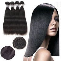 Cheng Zhuang Peruvian Virgin Human Hair Extensions Silky Straight Hair 3 Bundles with Lace Frontal 13x4 Closure Tangle Free